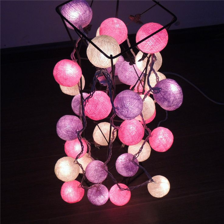 18 best fairy cotton Ball string light images on Pinterest