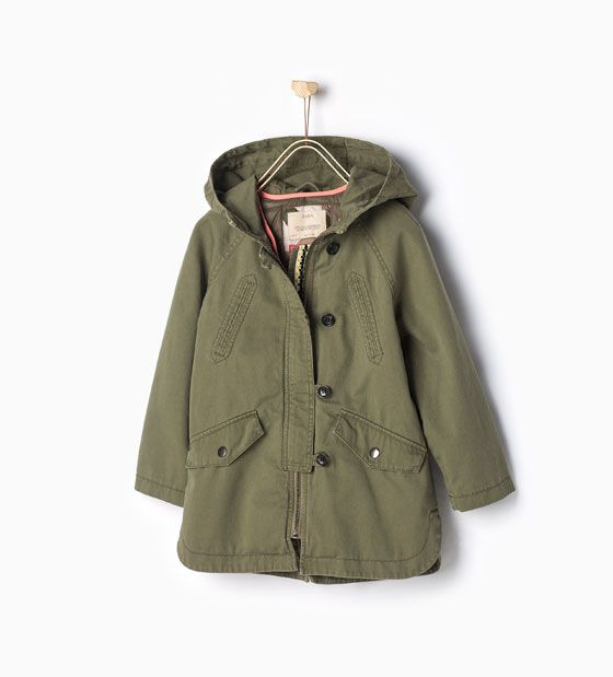 Image 1 of Parka with detachable features from Zara