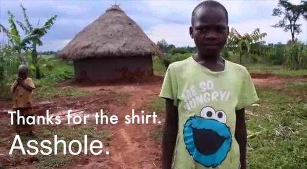 Спасибо за футболку футболка, Улица Сезам, негр, Африка, голод, еда, черный юмор