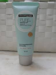 Maybelline Pure Makeup Base > Ideal para pieles con tendencia acnéica, mixtas/grasas. Lo único malo es la ausencia de FPS. | Maybelline Pure Makeup Foundation > Great for acne-prone, combo/oily skin. Drawback: No SPF.