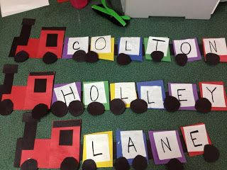 The Name Train - Stepping Stones Child Care: Here we GO! (it's all about transportation)