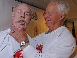Lanny McDonald and Gordie Howe