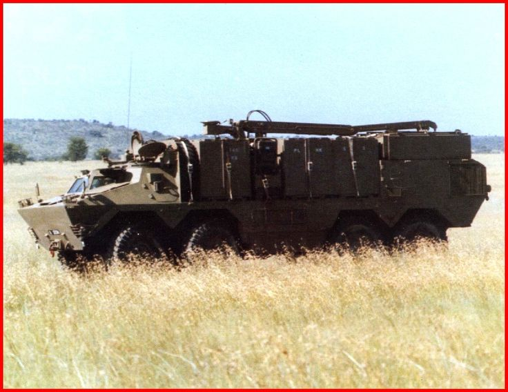 SADF.info Ratel Armoured Infantry Fighting Vehicle - logistics Ratel from side...