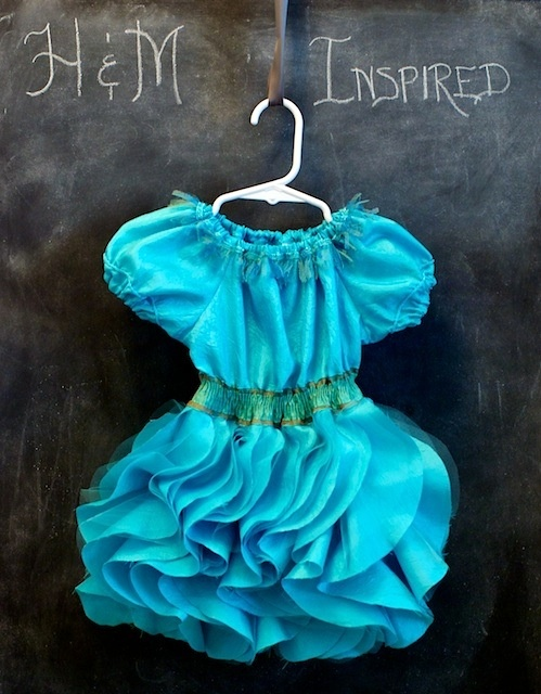 DIY Dress inspired by H using the Cascading Ruffle Skirt tutorial/pattern by Lil Blue Boo!