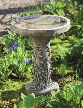 Lavender Birdbath traditional bird baths