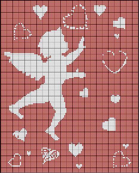 Cupidon de Saint-Valentin - Les tites'croix de Ludivine