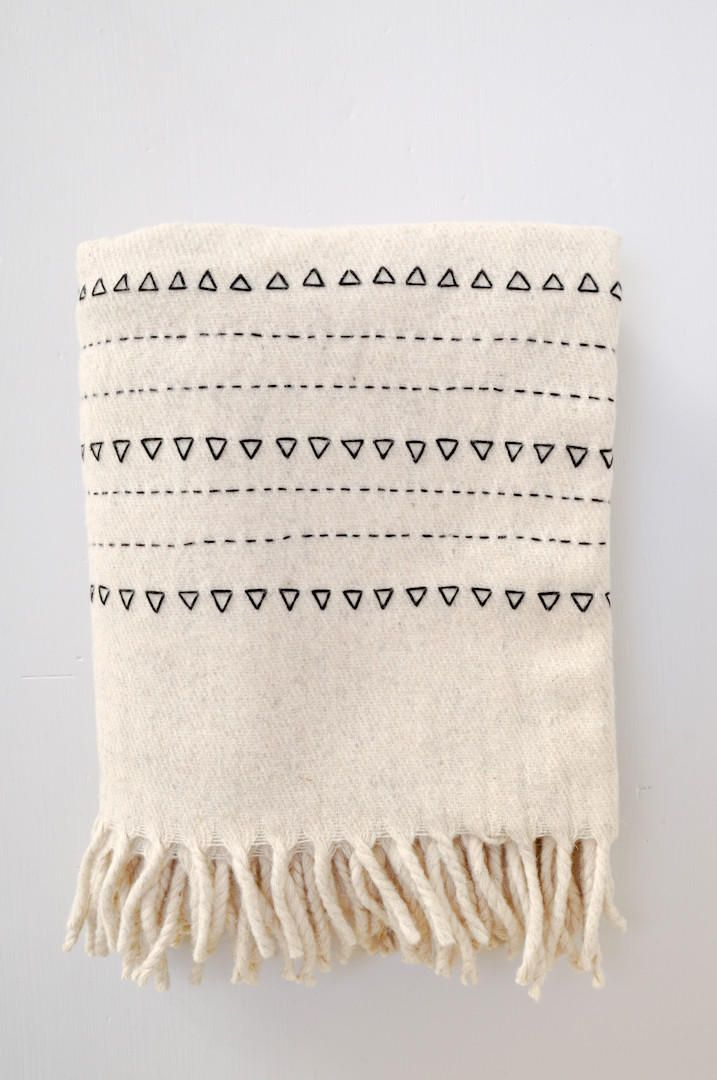 Blanket - Black Druzi Wool