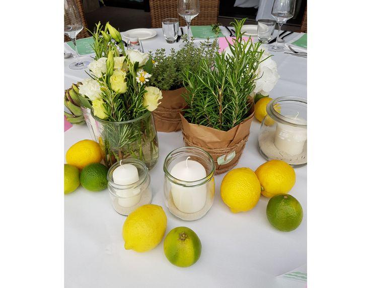 Hochzeit- Tischdeko Sommer – Heiraten im Klubhaus …