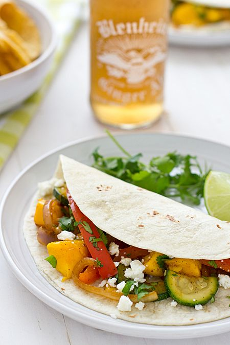 Sweet & Spicy Mango Fajitas | Recipe | Mango, Homemade Fajita ...