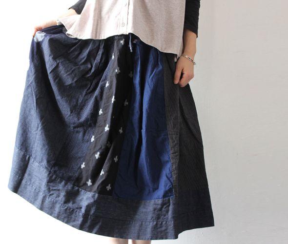 [TIGRE BROCANTE] MIX Ficelle Skirt
