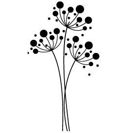 Stickers Fleur arrondie