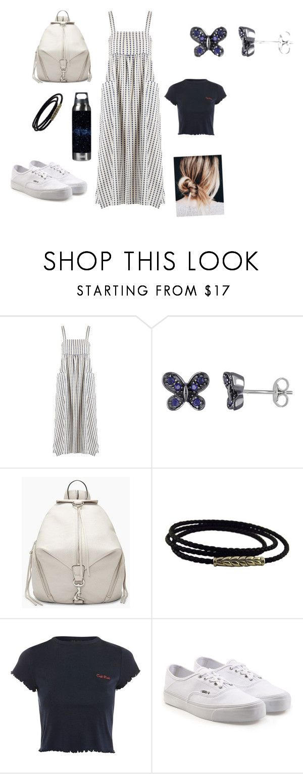 """""""Casual & Comfy In Navy"""" by ticklesweet on Polyvore featuring Mara Hoffman, Amour, Rebecca Minkoff, David Yurman, Topshop and Vans"""