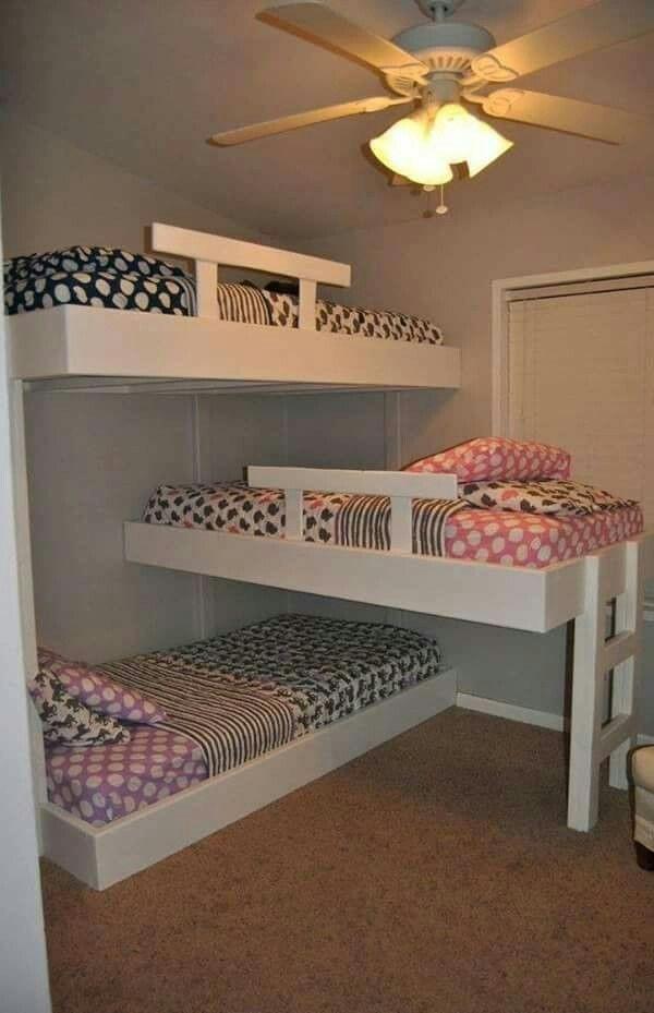 Built In Bunk Bed Ideas Triple Bunk Beds Bunk Beds Pinterest