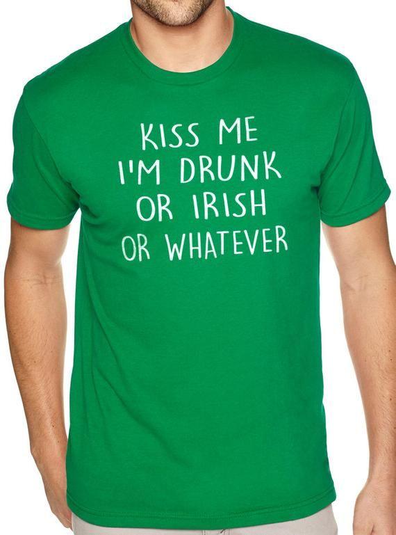 Kiss Me Im Irish Funny Novelty T-Shirt Mens tee TShirt