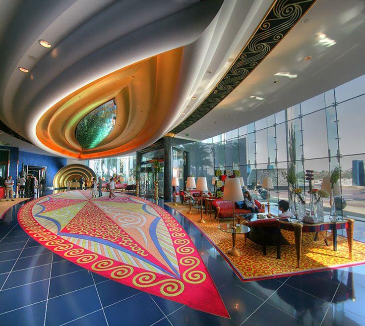 Burj Al-Arab Hotel, #Dubai http://VIPsAccess.com/luxury-hotels-dubai.html // #bafco #bafcointeriors Visit www.bafco.com for more inspirations.