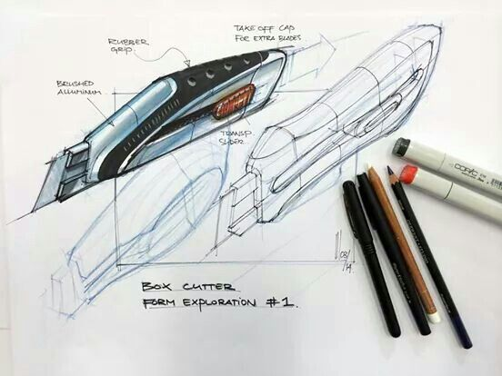 #cutter #industrial #design #sketch