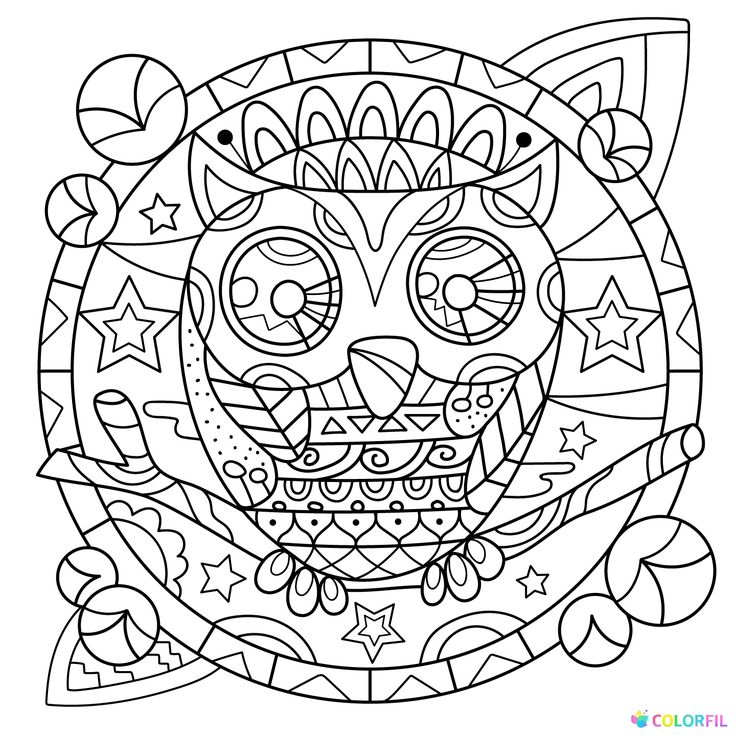 490 best coloring owl images on Pinterest | Adult coloring, Big ...