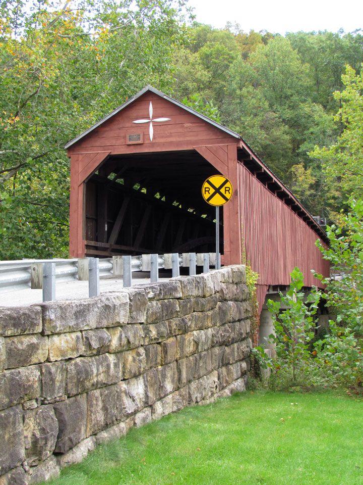 West Virginia Covered Bridge Carrollton Barbour County