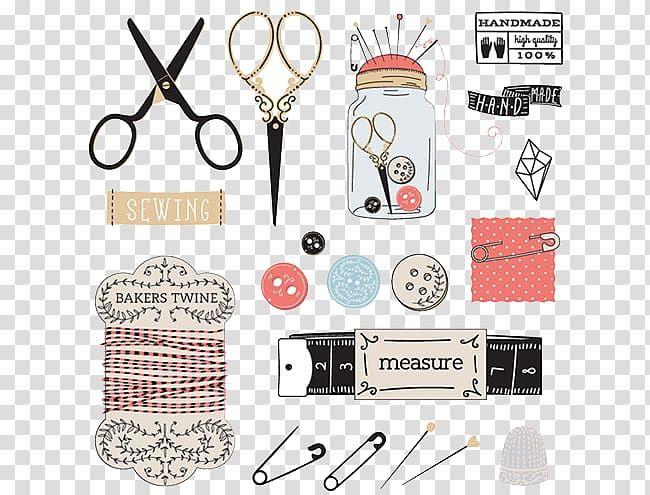 التوضيح مقص أسود إبرة الخياطة أدوات خياط Png Witch Art Clip Art Sewing