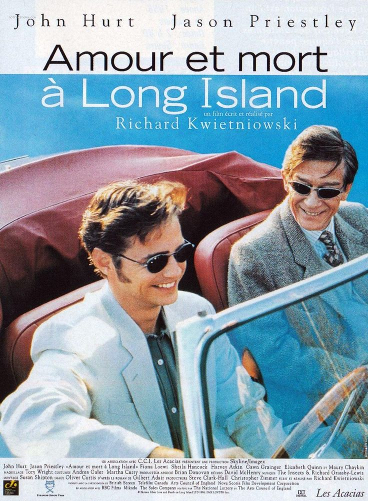 Love and Death on Long Island is a 1997 UK / Canadian film directed by Richard Kwietniowski and starring Jason Priestley, John Hurt, Fiona Loewi, Sheila Hancock and Anne Reid. Description from imgarcade.com. I searched for this on bing.com/images
