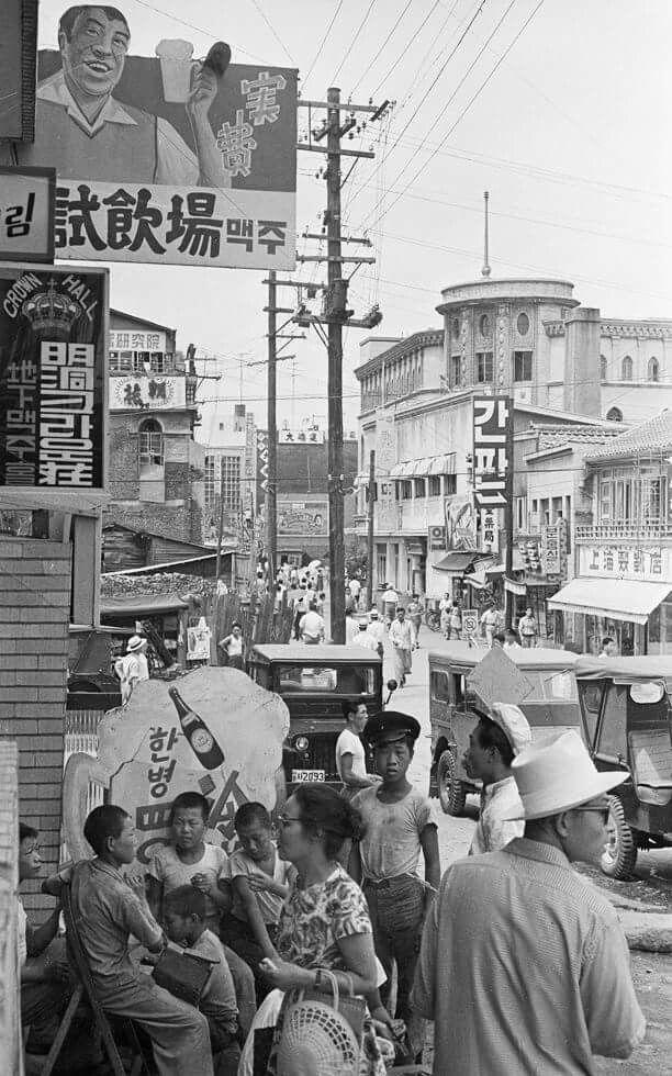 © Han Youngsoo - Meongdong, Seoul, Korea 1956-1963