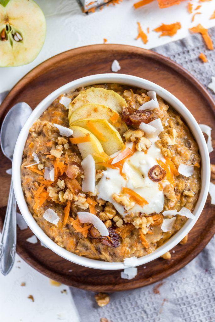"""""""Karottenkuchen"""" -Haferbrei / Haferbrei à la Karottenkuchen   – Breakfast"""