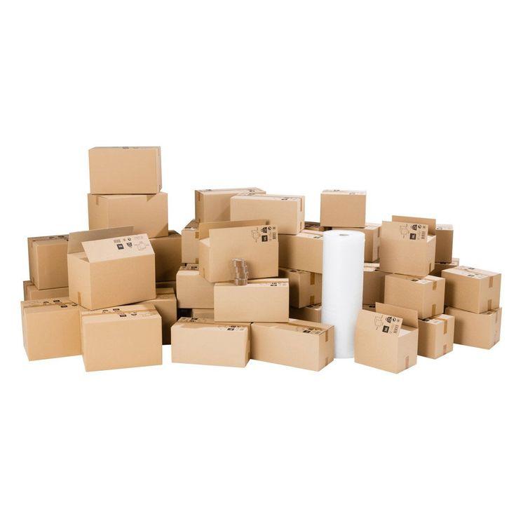 Kit Demenagement Pour Logement 130m Cartons Film Bulle Adhesifs Carton Kit Et Rouleau Adhesif