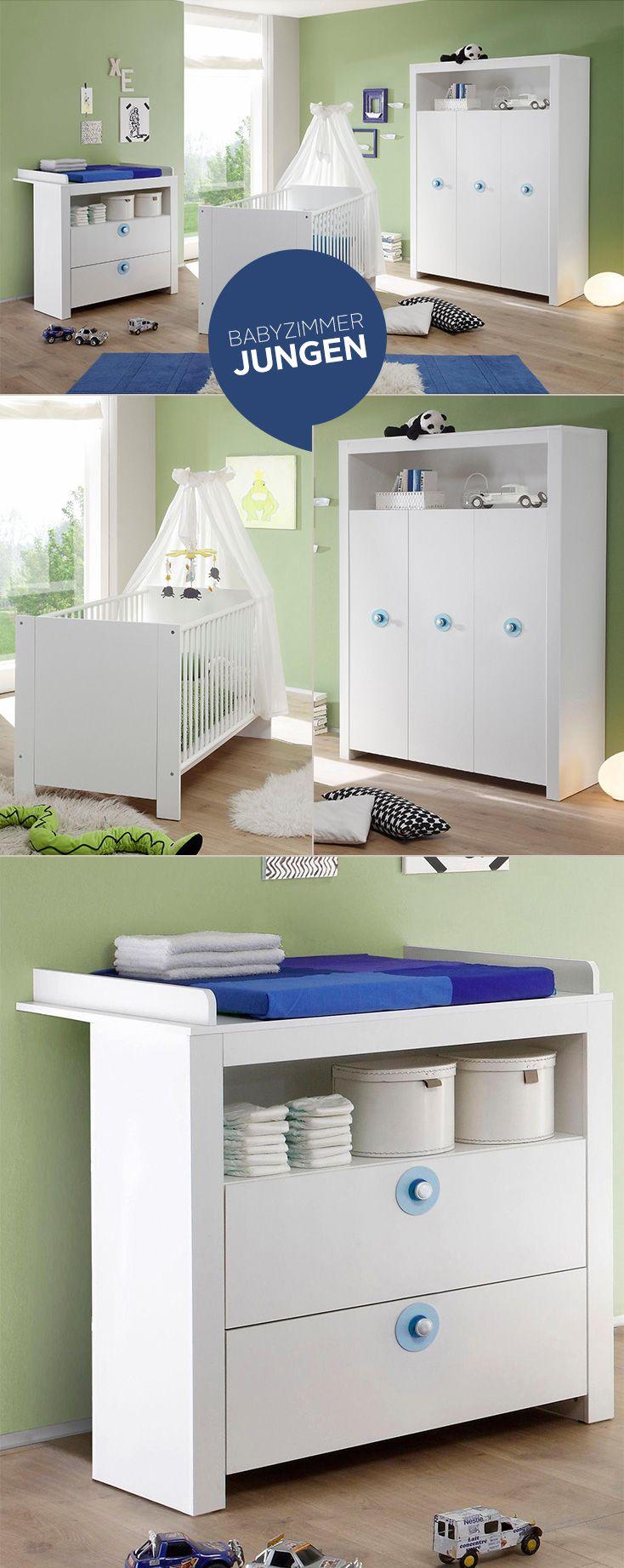 Popular Komplett Babyzimmer Trend Babybett Wickelkommode Kleiderschrank tlg in wei