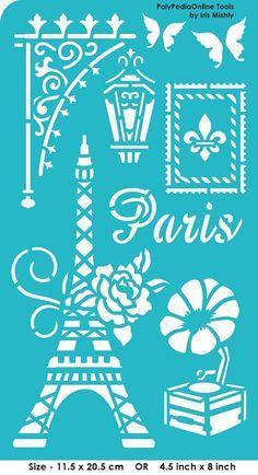 Tarjeta de plantilla plantillas plantillas París por irismishly