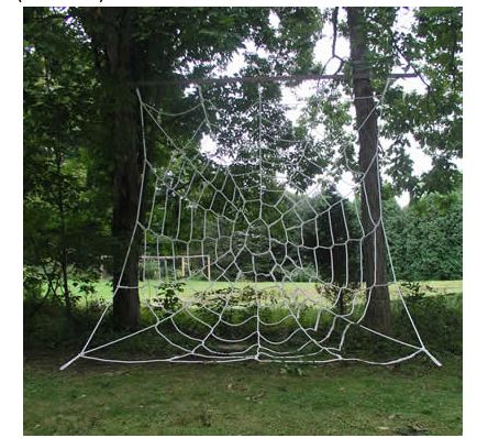 Outdoor Cargo Climbing Nets  This is really awesome! My kids LOVE to climb. I so plan on getting one of these spiderweb nets!