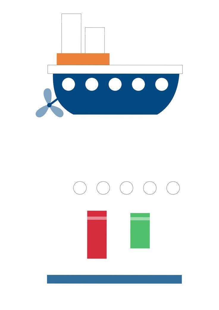 Картинка с заплатками кораблик