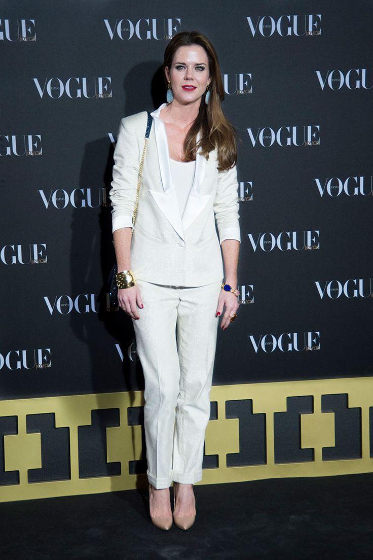 Amelia Bono con traje de ChicNRolla en la fiesta de Vogue Joyas
