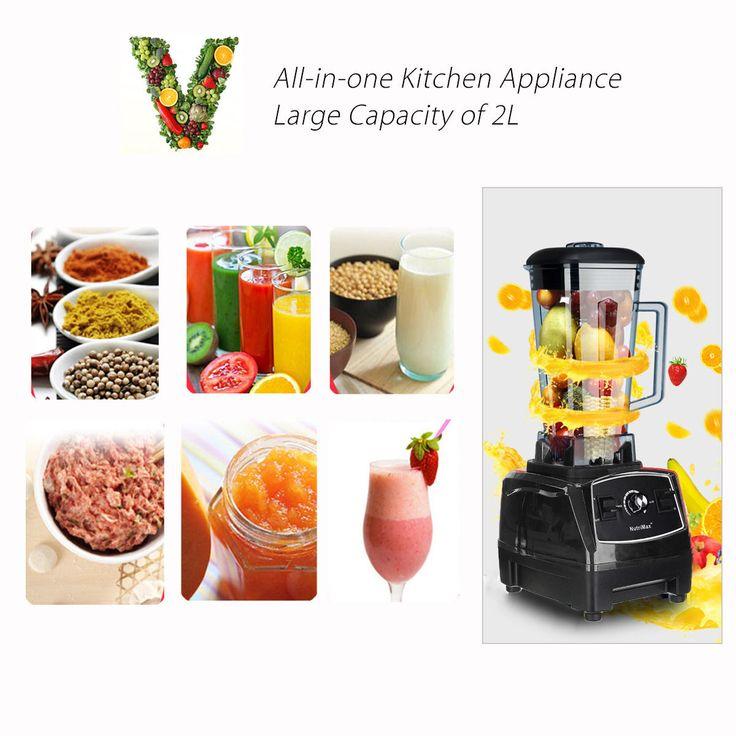 110-240V 2200W Mixer Blender Fruit Mix Juicer Smoothie Home Multifunctional Food Processor 2L at Banggood