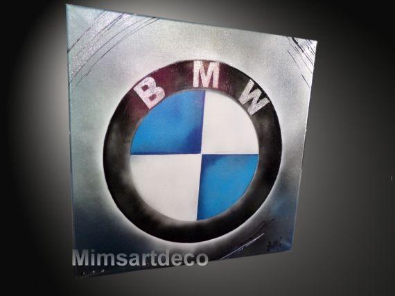 TABLEAU PEINTURE tableau bmw tableaux moderne tableau automobile logo sigle voiture Sport  - Tableau Logo BMW