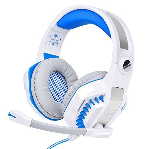 Tupelo Wired Gaming Headset with Microphone for PS4 PS3 PlayStation 4 PlayStation 3 Xbox one Xbox 360 Xbox 1(White)