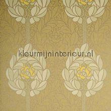 Art nouveau bloemmotief behang LOA1901 Lotus Arte