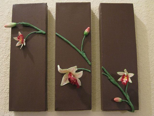 Orchid 3pc Wall Art 10 by ElizabethBonura, via Flickr