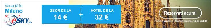 De la 14€, Sarbatori de vis in una din cele mai populare destinatii – Milano  Si in 2014 Milano, Italia, este in topul destinatiilor preferate pentru vacanta de iarna. Pe eSKY.ro gasiti promotii pentru Bilete de avion de la 14€ si Hoteluri de la 32€. Verificati promotiile!  eSKY.ro – Comunitatea online a calatorilor inteligenti!