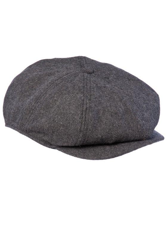 THE BUMPY MK2- Dark Grey  Woollen 8-panel baggy cap