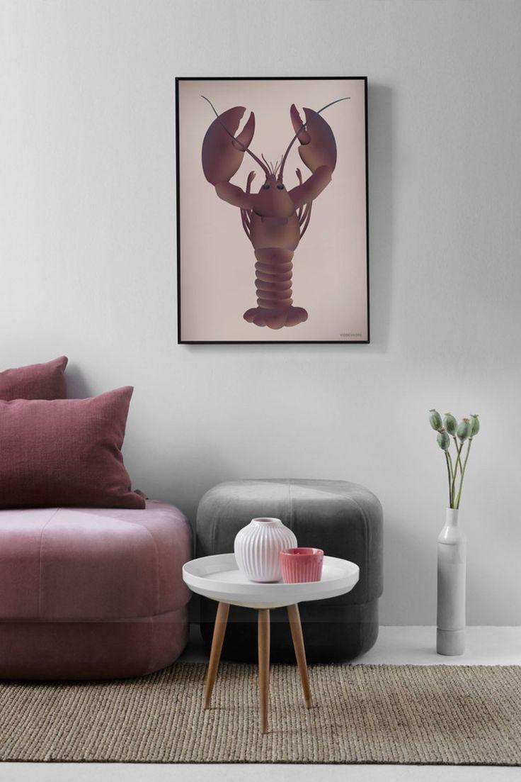 Vissevasse plakat med skaldyrenes konge - Hummeren.