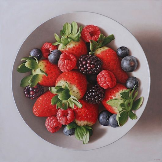 Red Fruits, 92 x 92 cm, oil on canvas