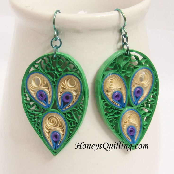 Quilling Earrings Designs Using Comb : 17 Best images about Quilling - Jewelry on Pinterest Flower earrings, Quilling and Handmade ...