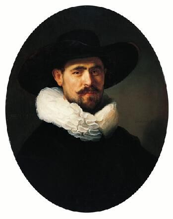 Rembrandt van Rijn  - Portrait of a Bearded Man in a Wide-Brimmed Hat
