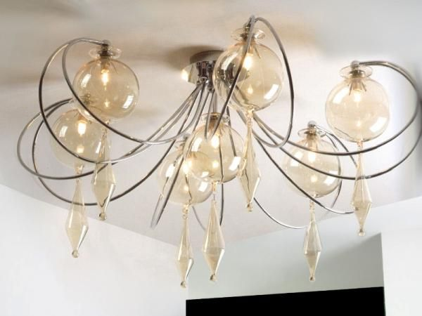 Contemporary, Modern Italian Ceiling Light, 15 Colours