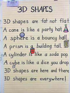 A 3-D shapes poem ~ Cute :)
