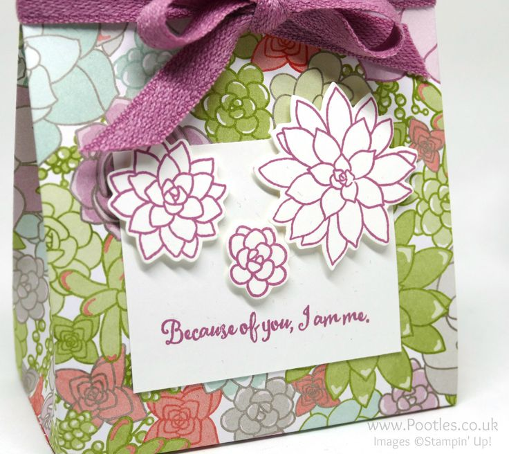 Stampin' Up! Demonstrator Pootles – Succulent Garden Suite Bag I don't know if any of you are like me, but when you get an amazing visual such as the one in the catalogue, you jus…
