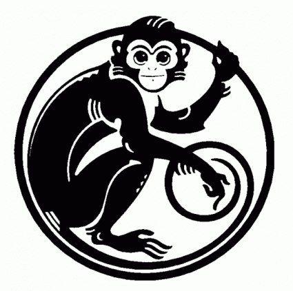силуэт обезьяны для вырезания - Поиск в Google