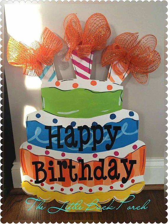 Prime Happy Birthday Door Sign Birthday Cake Door Hanger Birthday Door Funny Birthday Cards Online Alyptdamsfinfo