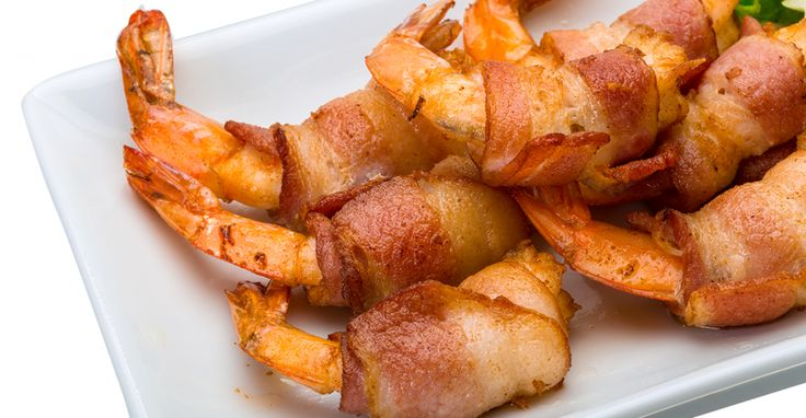 Air Fried Bacon Wrapped Shrimp