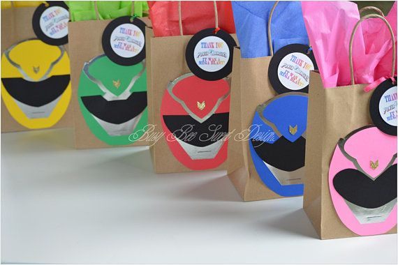 Power Rangers Party Favor Bags / Power Rangers Birthday Party